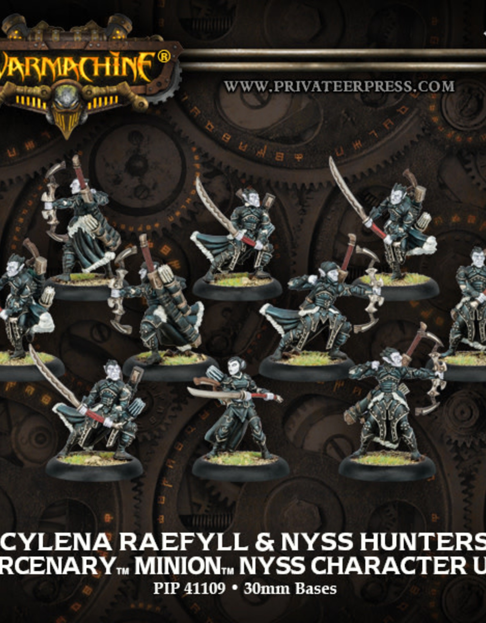 Warmachine Mercenaries -Cylena Raefyll & Nyss Hunters