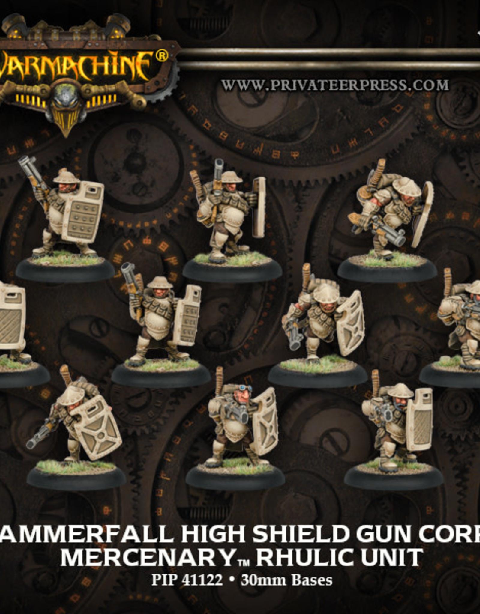 Warmachine Mercenaries - Hammerfall High Shield Gun Corps