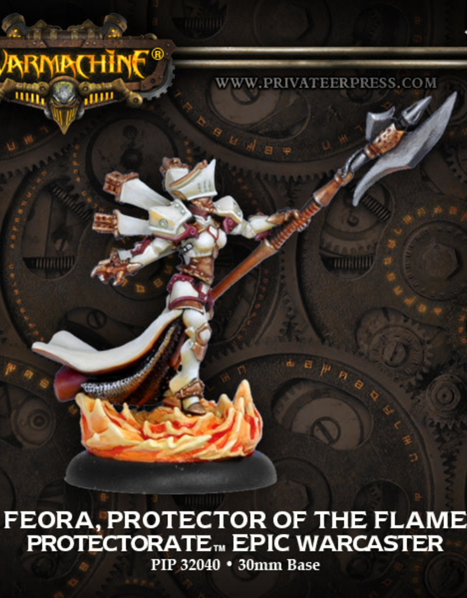 Warmachine Protectorate - Feora, Protector of the Flame