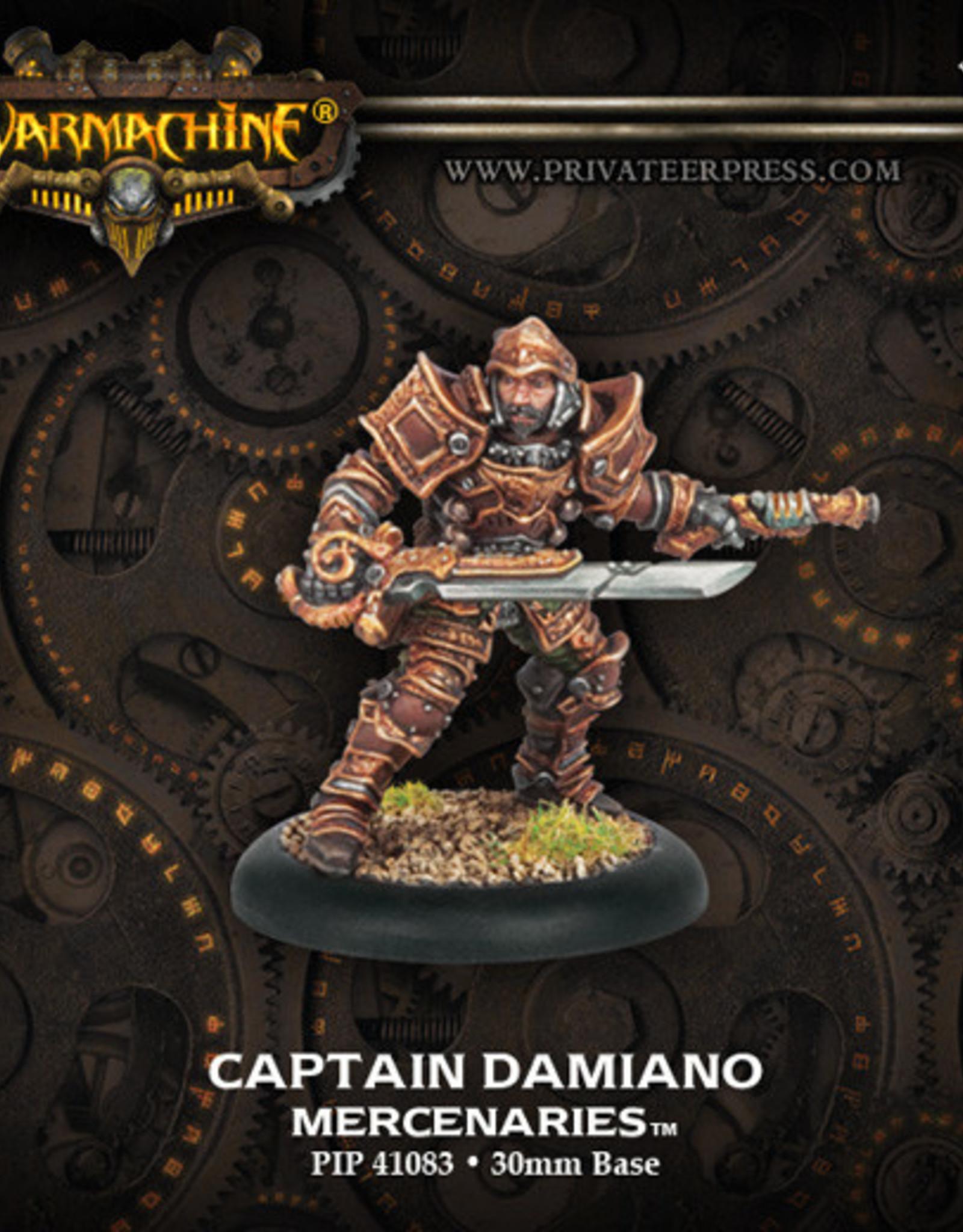 Warmachine Mercenaries - Captain Damiano