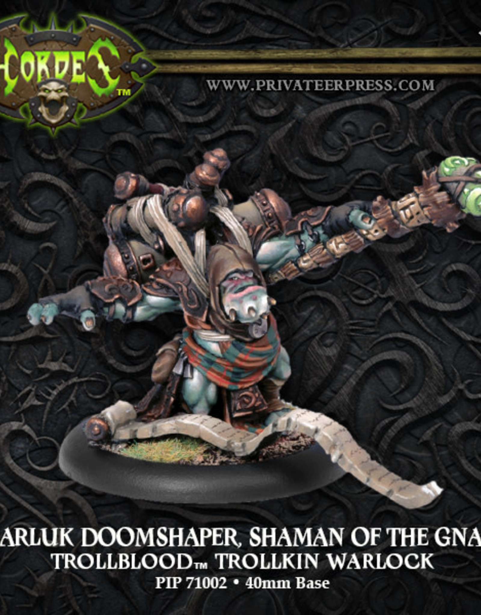 Hordes Trollbloods - Hoarluk Doomshaper Shaman of the Gnarls