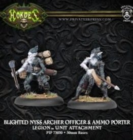 Hordes Everblight - Blighted Nyss Archer Officer & Ammo Porter