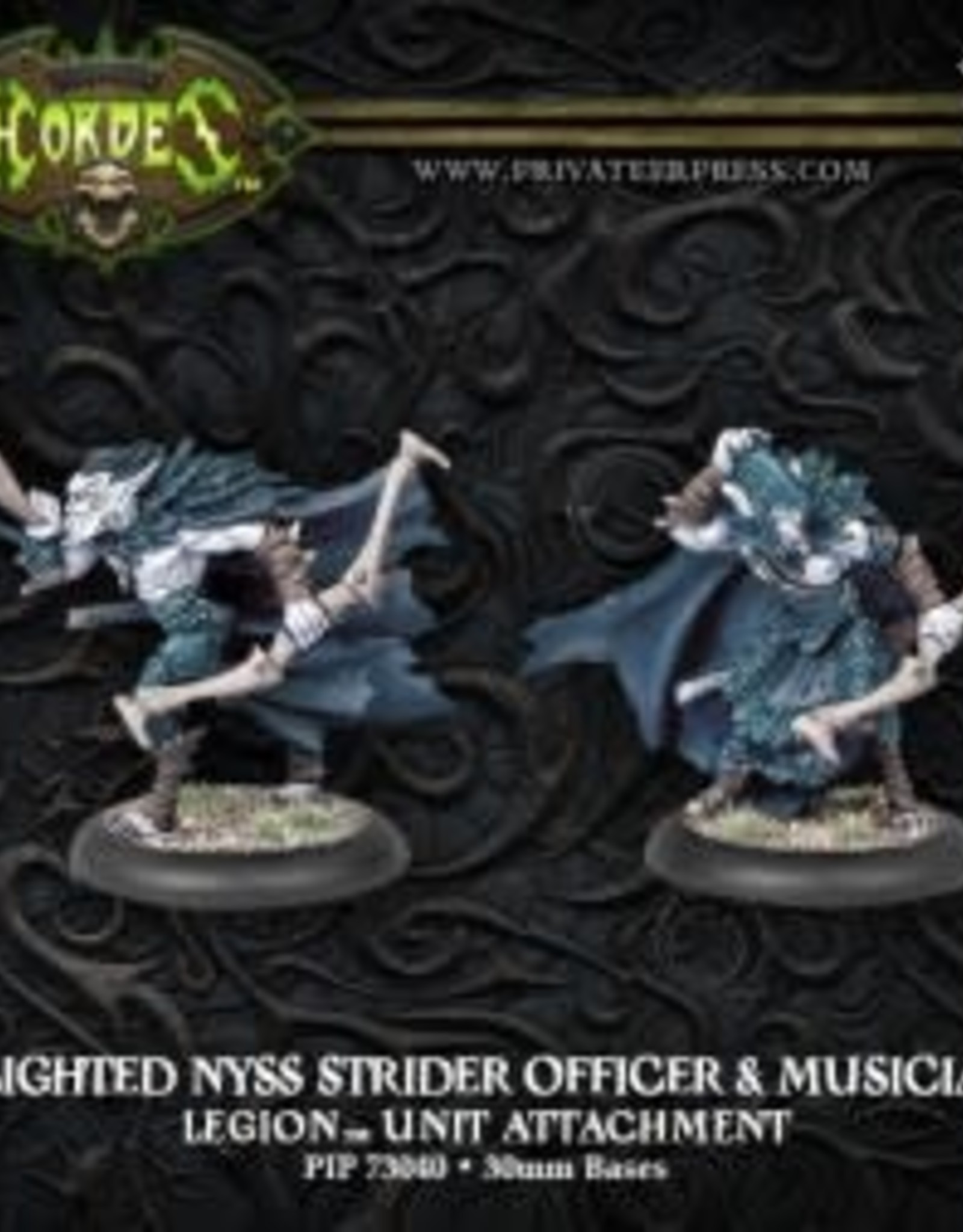 Hordes Everblight - Blighted Nyss Strider Officer & Musician