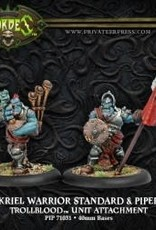 Hordes Trollbloods - Kriel Warrior Standard Bearer & Piper
