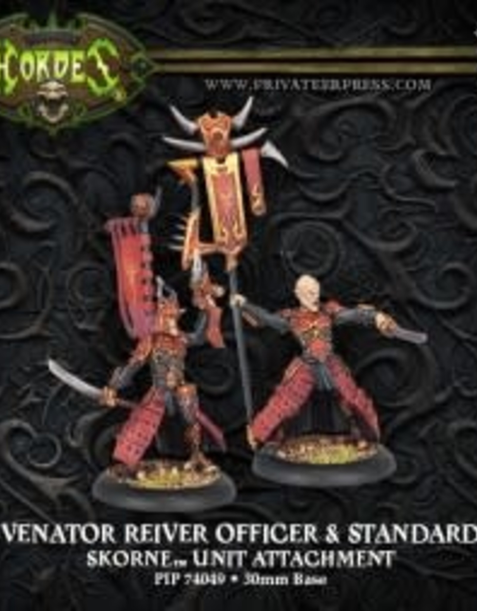 Hordes Skorne - Venator Reaver Officer & Standard