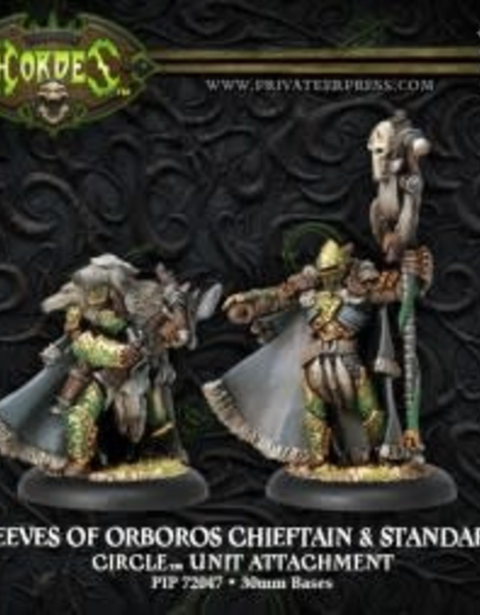 Hordes Circle - Reeves of Oboros Chieftain & Standard
