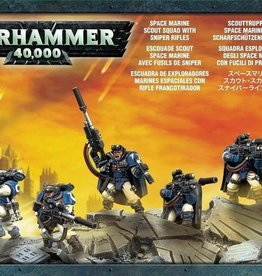 Warhammer 40k Space Marines - Scout Squad with Sniper Rifles