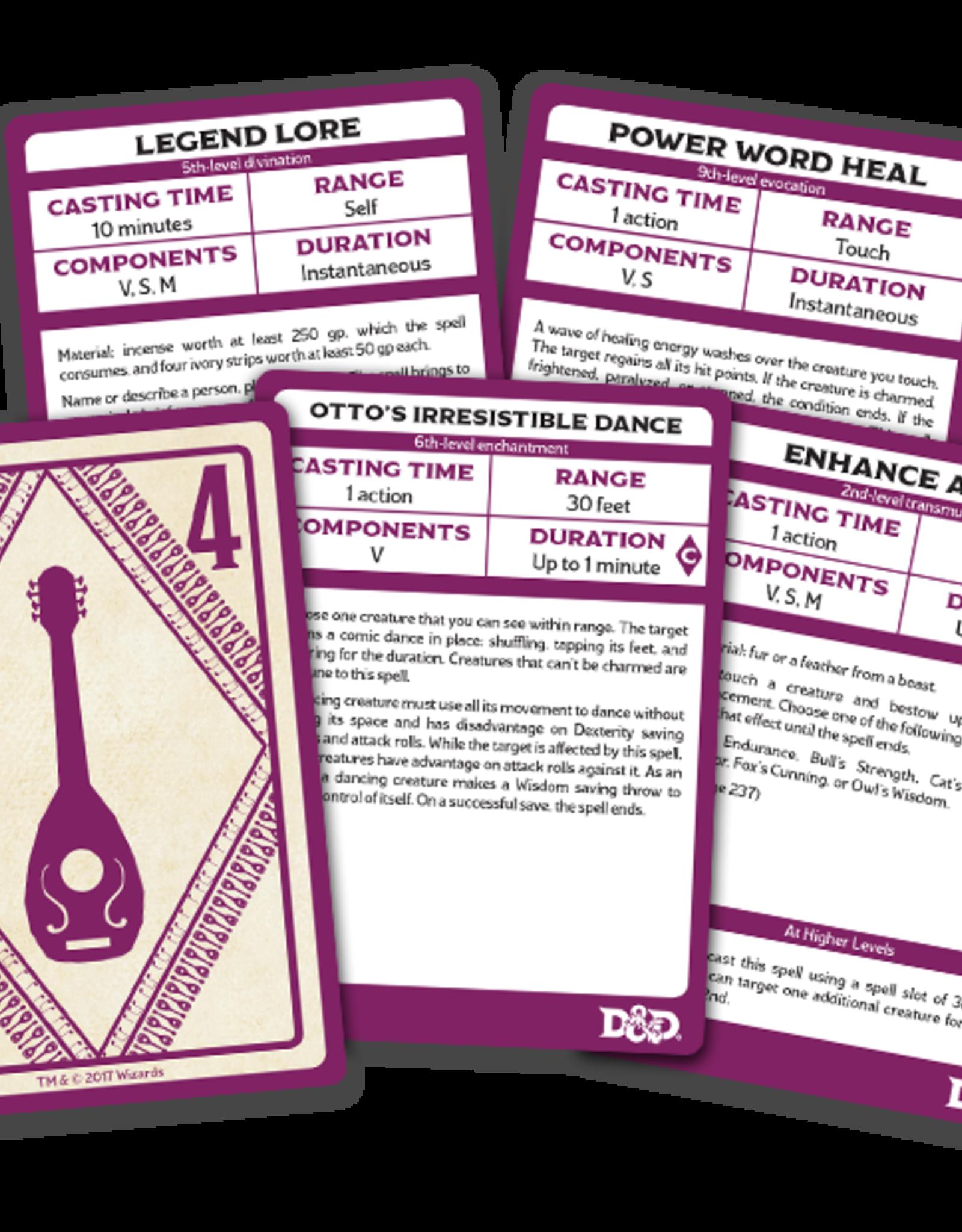 Spellbook  Cards SpellBook Cards - Bard