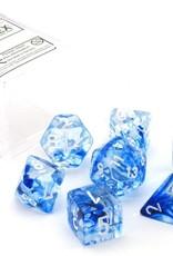 Chessex Nebula Dark Blue w/white Polyhedral Set