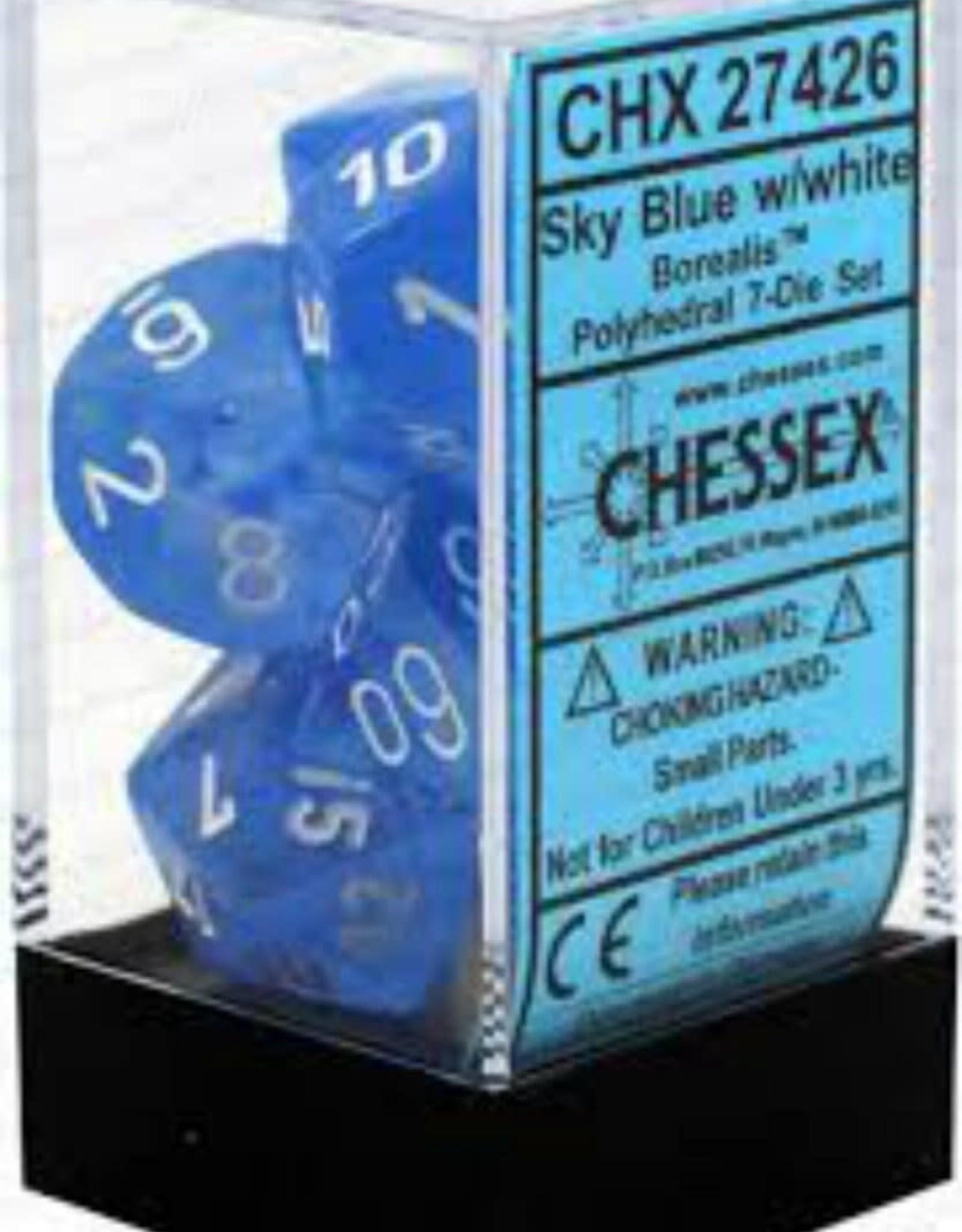 Chessex Borealis Sky Blue/White