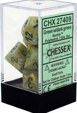 Chessex Marble Green/Dark Green Polyhedral Set