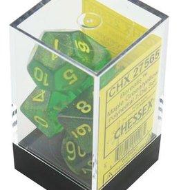 Chessex Borealis Maple Green w/yellow Polyhedral Set