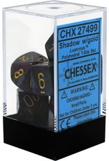 Chessex Lusterous Shadow/gold Polyhedral Set