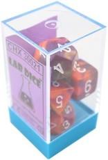 Chessex Gemini - Orange/Purple w/White Polyhedral Set