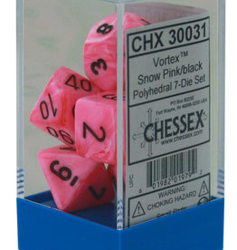 Chessex Vortex Snow Pink w/black