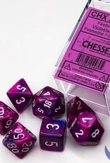 Chessex Festive Violet w/white Polyhedral Set