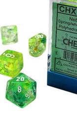 Chessex Nebula Spring w/white Polyhedral Set