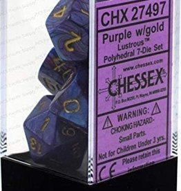 Chessex Lusterous Purple w/gold Polyhedral Set