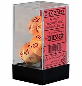 Chessex Festive Sunburst w/red Polyhedral Set