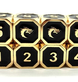 Elven Forged Elven Forged D6 Black/Gold