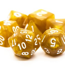 Old School Dice OSD Pearl Drop -  Gold w/White