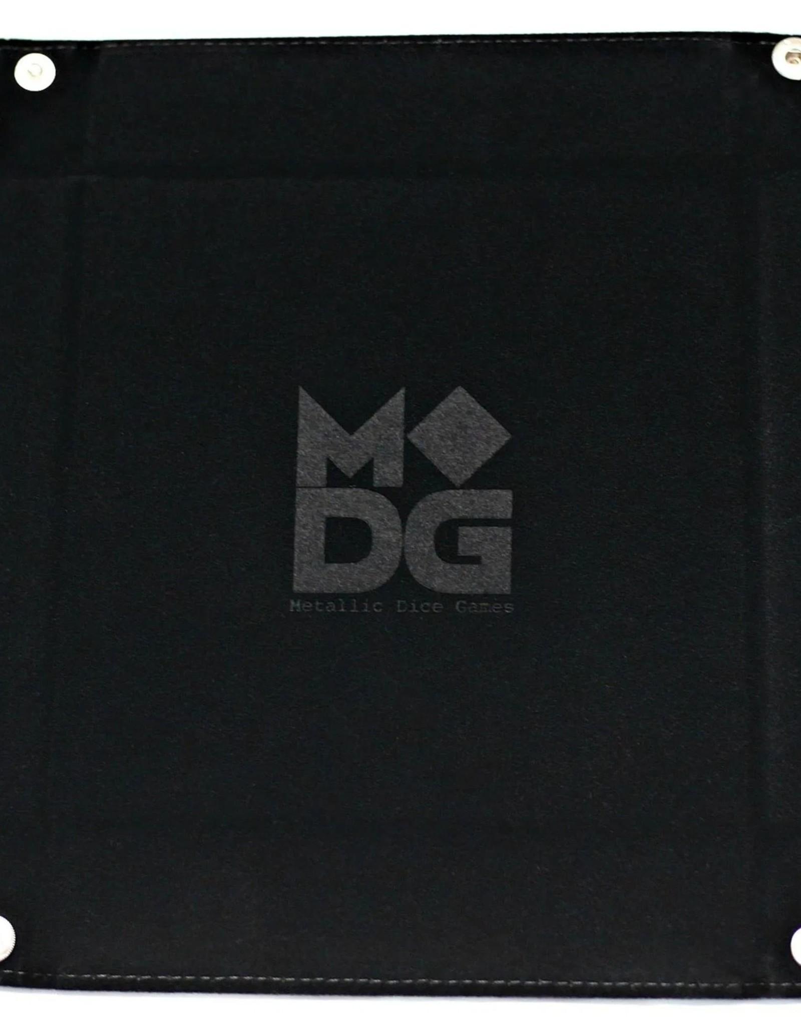 Metalic Dice Trays Folding Dice Tray - Velvet Black