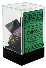 Chessex Gemini Green-Purple/Gold Polyhedral Set