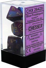 Chessex Gemini Blue-Purple/Gold Polyhedral Set