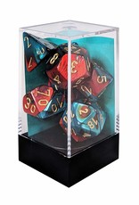Chessex Gemini Red/Teal w/Gold Polyhedral Set