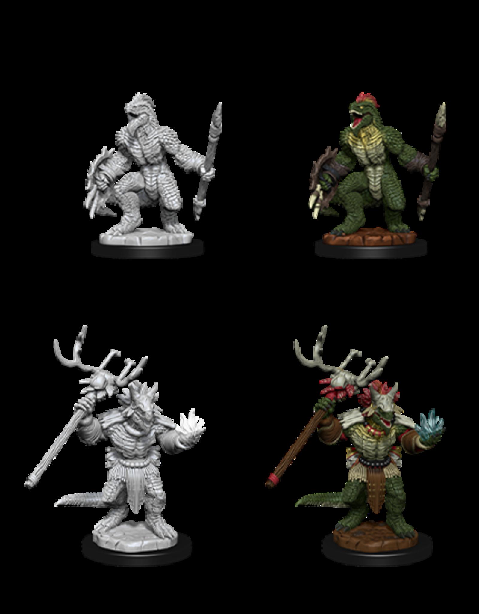 Nolzur's Marvelous Miniatures D&D D&D NMU - Lizardfolk & Lizardfolk Shaman (W12)