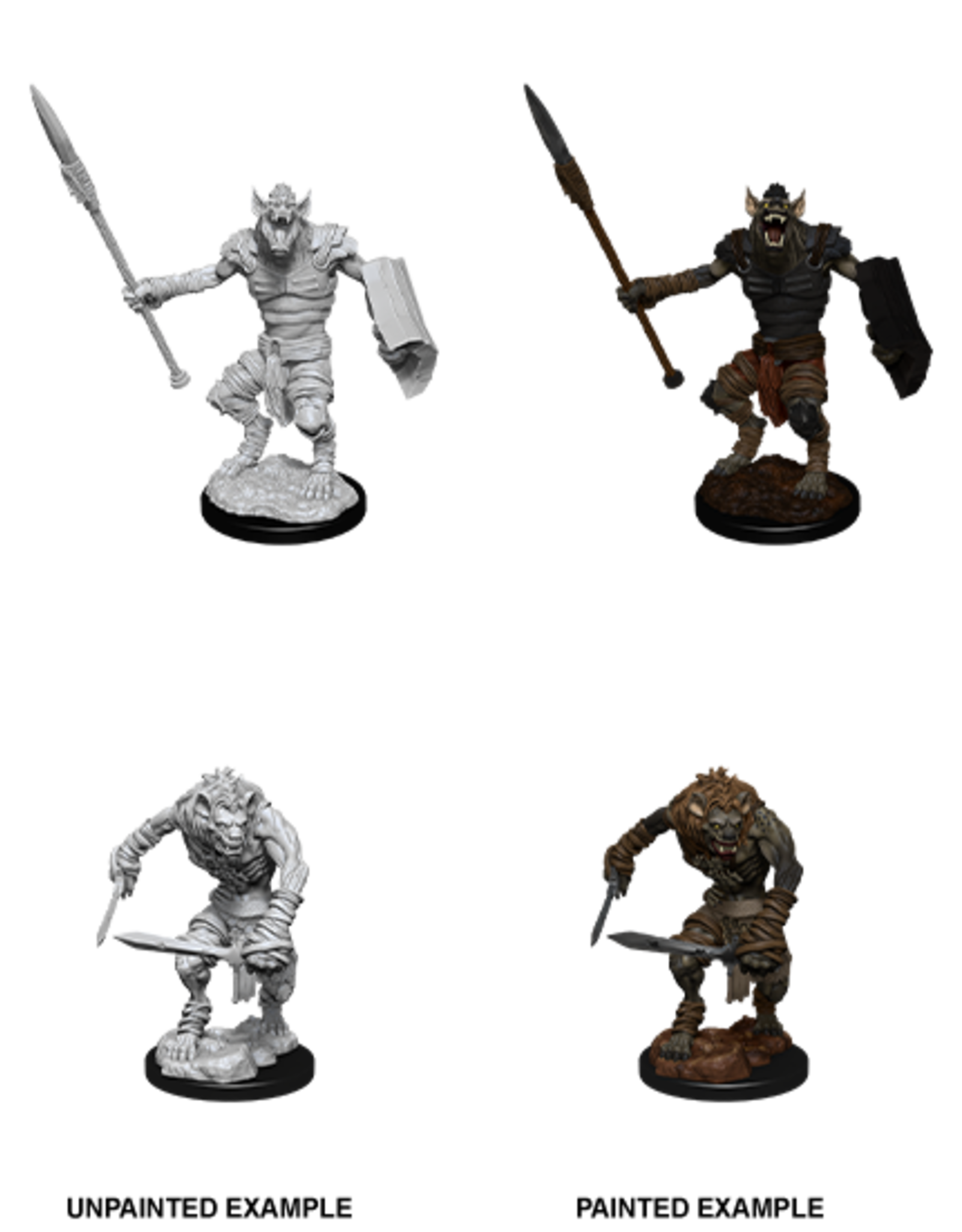 Nolzur's Marvelous Miniatures D&D D&D NMU - Gnoll & Gnoll Flesh Gnawer (W12)