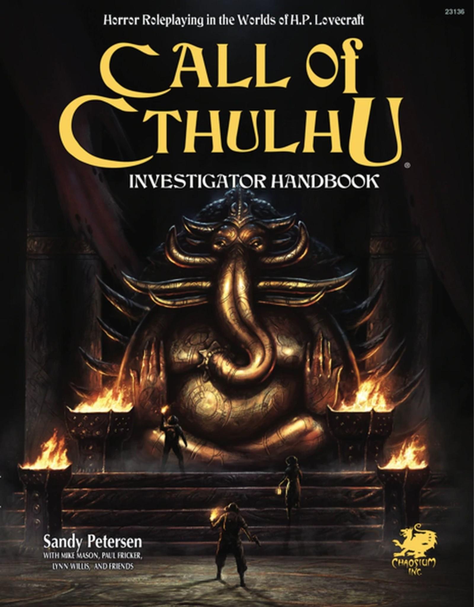 Call of Cthulhu Call of Cthulu Investigator Handbook