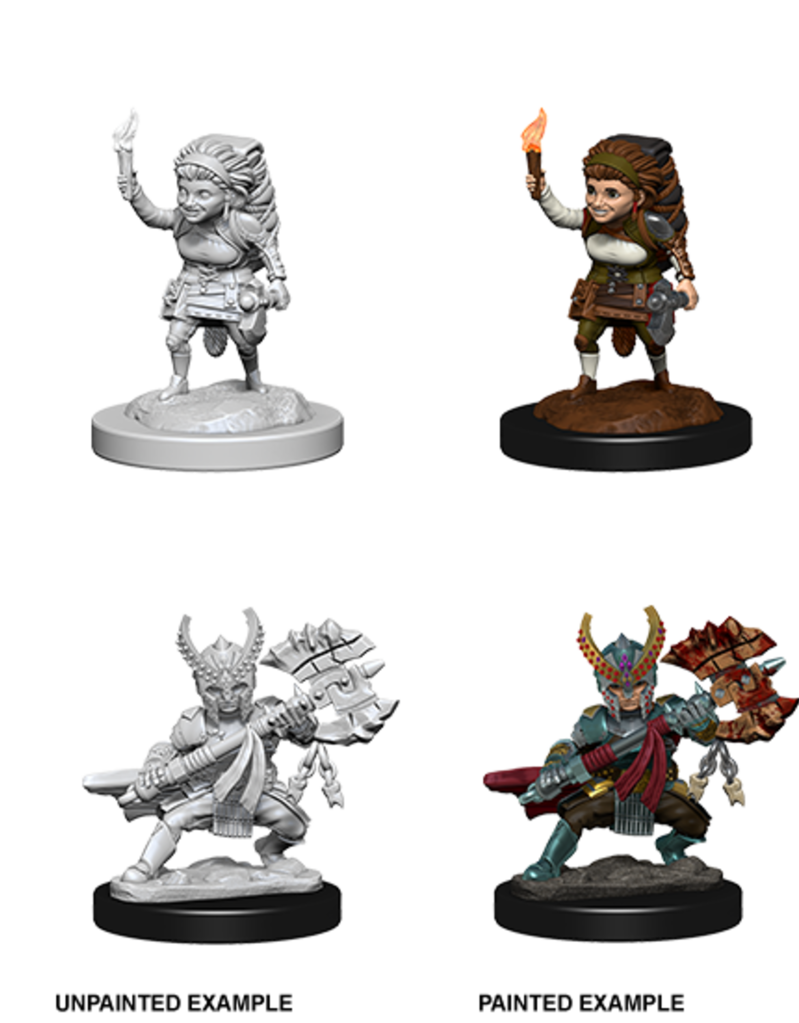 Dungeons & Dragons D&D NMU - Female Halfling Fighter