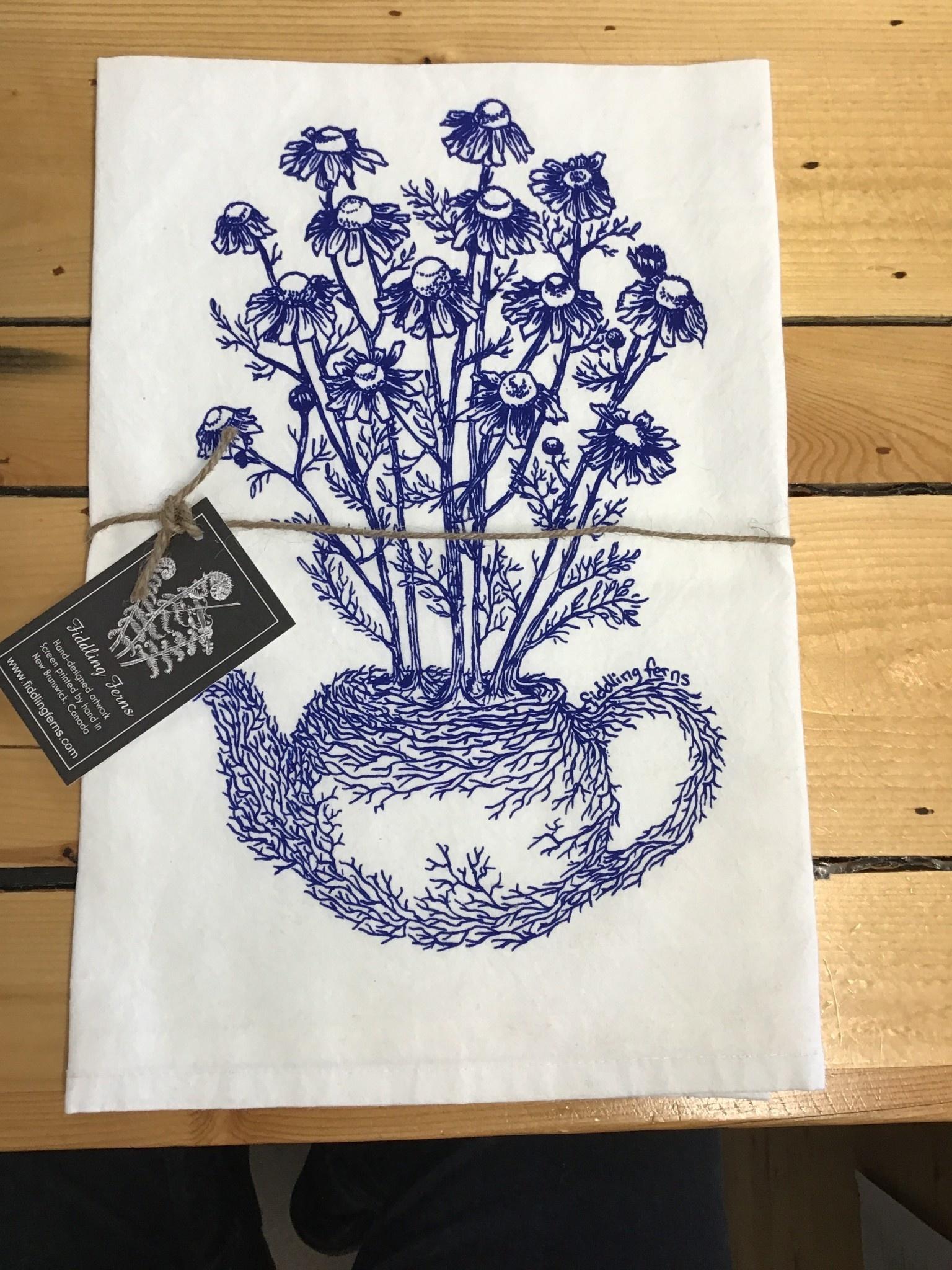 Fiddling Ferns Tea Towels