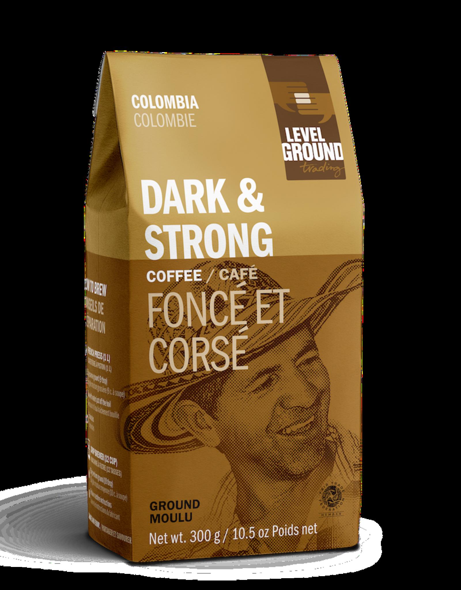 Level Ground Coffee, Colombia Dark Roast, Ground 300g