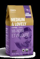 Level Ground Coffee, Ethiopia Medium Roast, Ground 300g