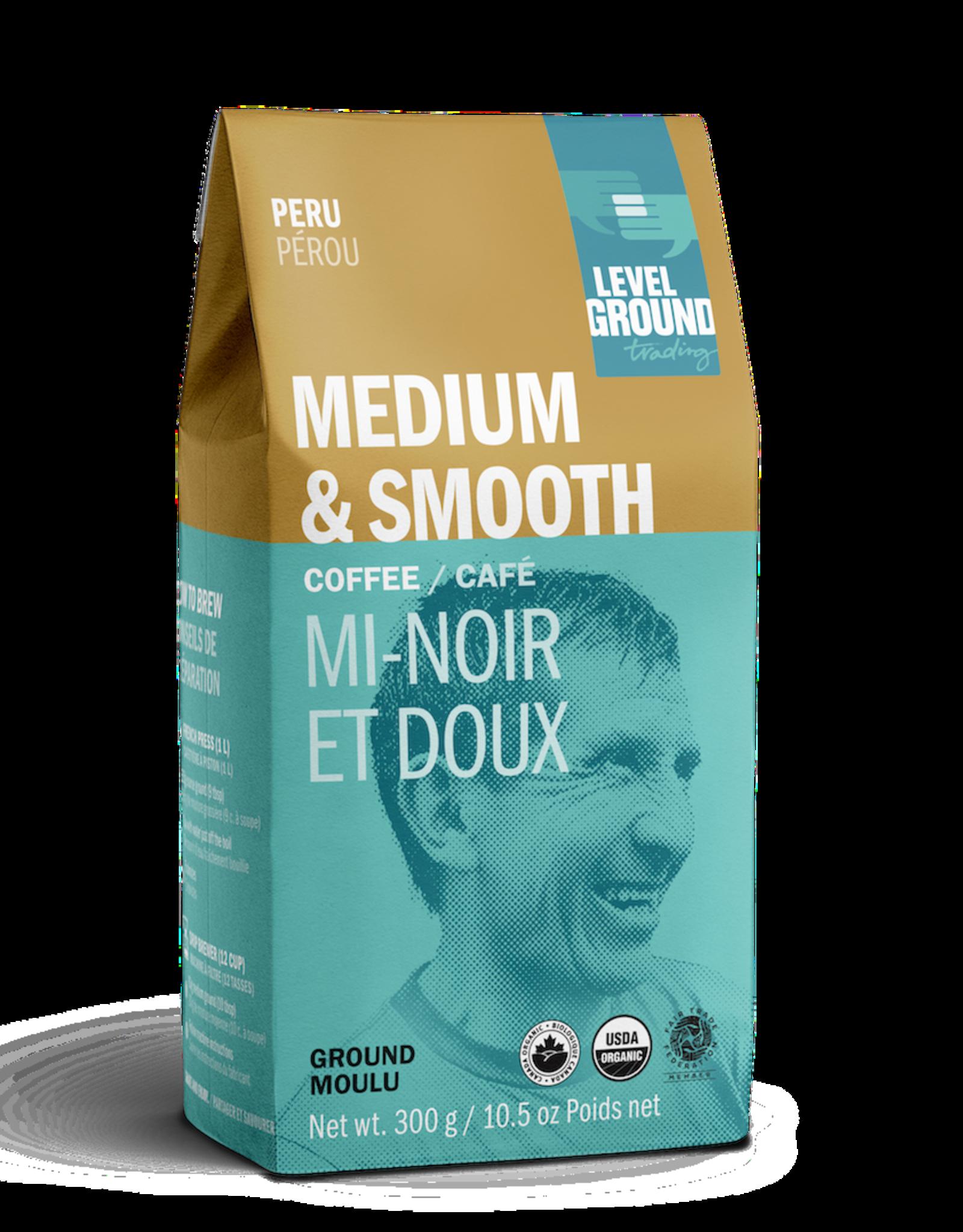 Level Ground Coffee, Peru Medium Roast, Ground 300g