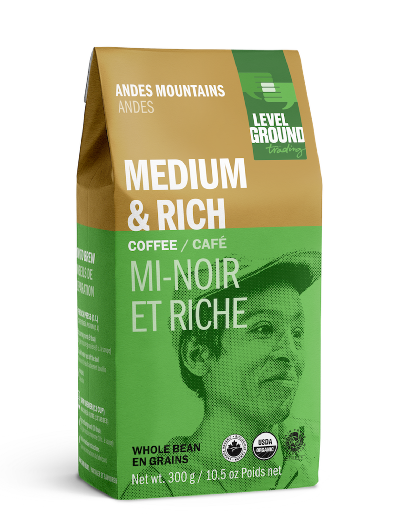 Level Ground Coffee, Andes Mountains, Bean 300g