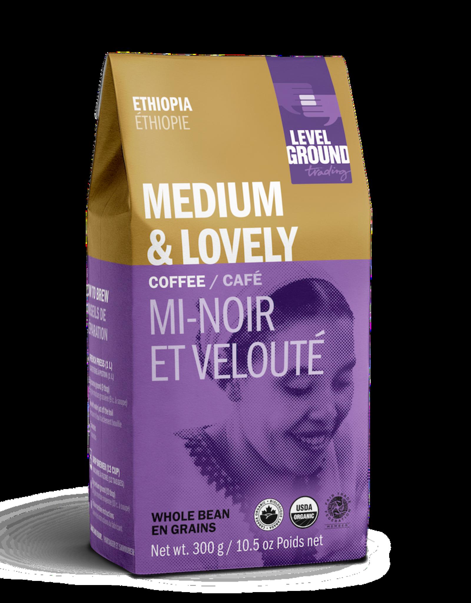 Level Ground Coffee, Ethiopia Medium Roast, Bean 300g