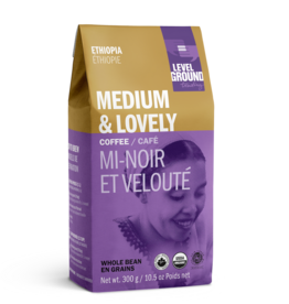 Level Ground Coffee, Ethiopia Medium Roast, Bean 300g