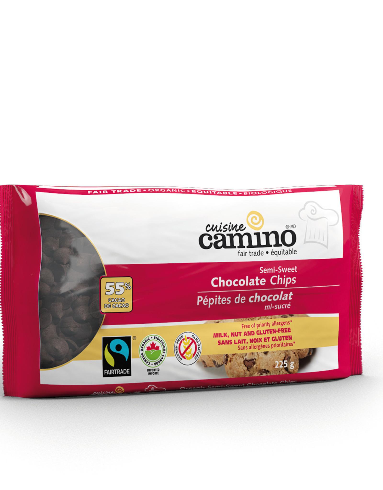 Camino Camino Semi-Sweet Organic Chocolate Chips 225g
