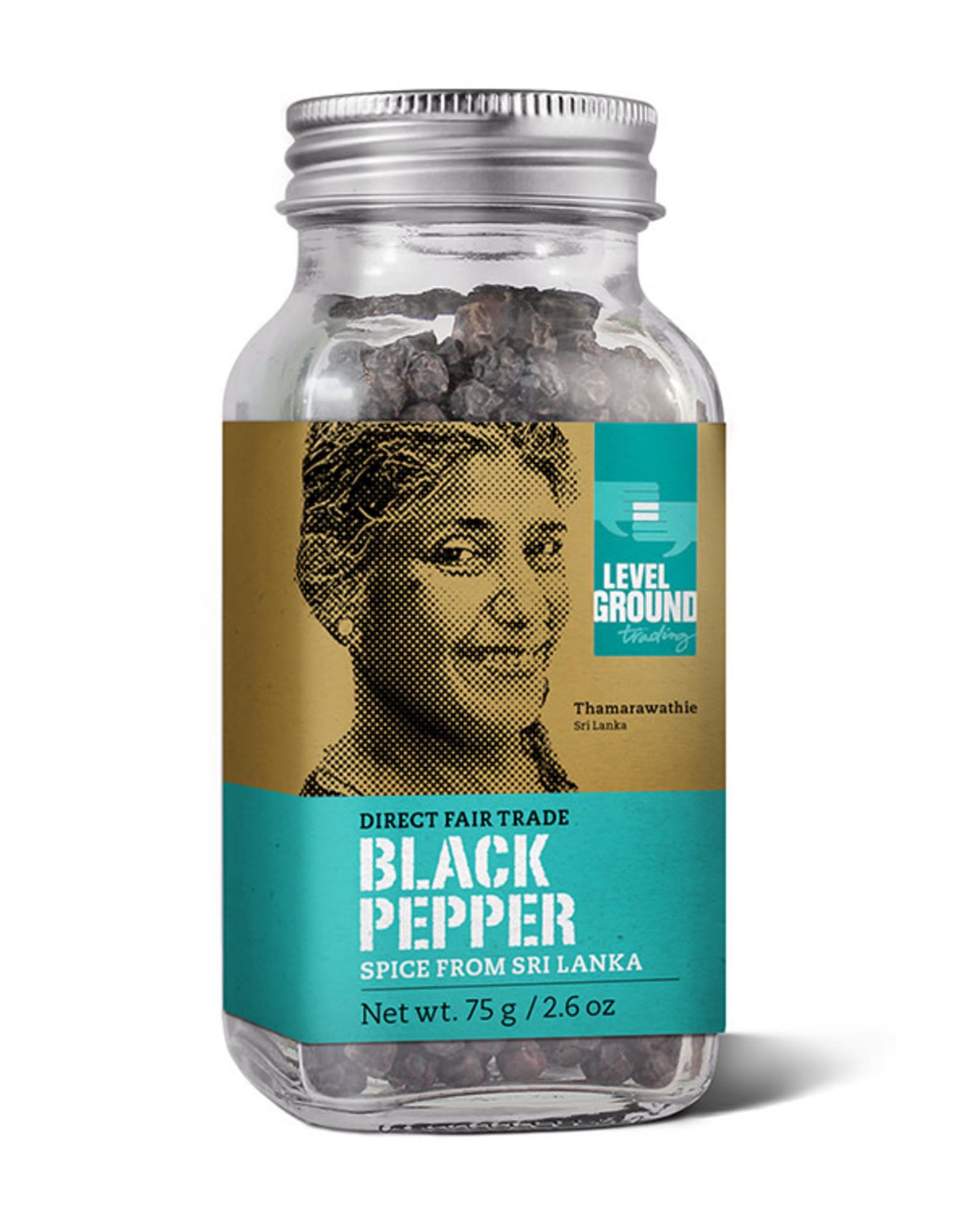 Level Ground Level Ground Black Whole Pepper, 75g