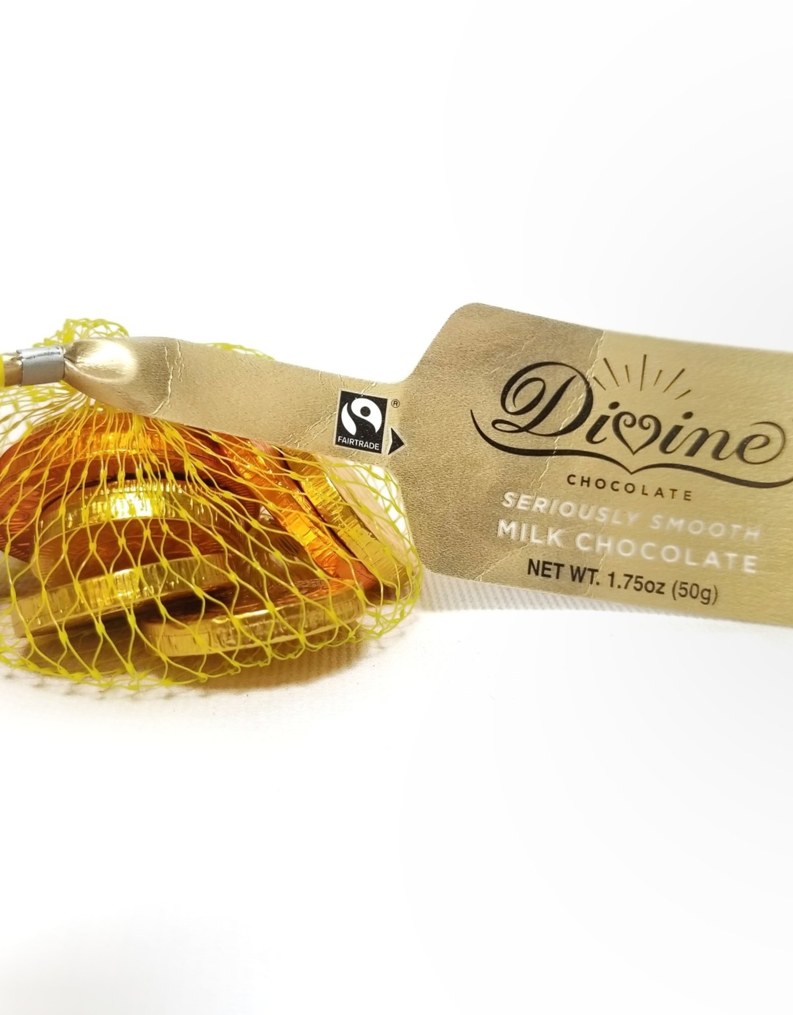 Divine Chocolate Divine Milk Chocolate Coins