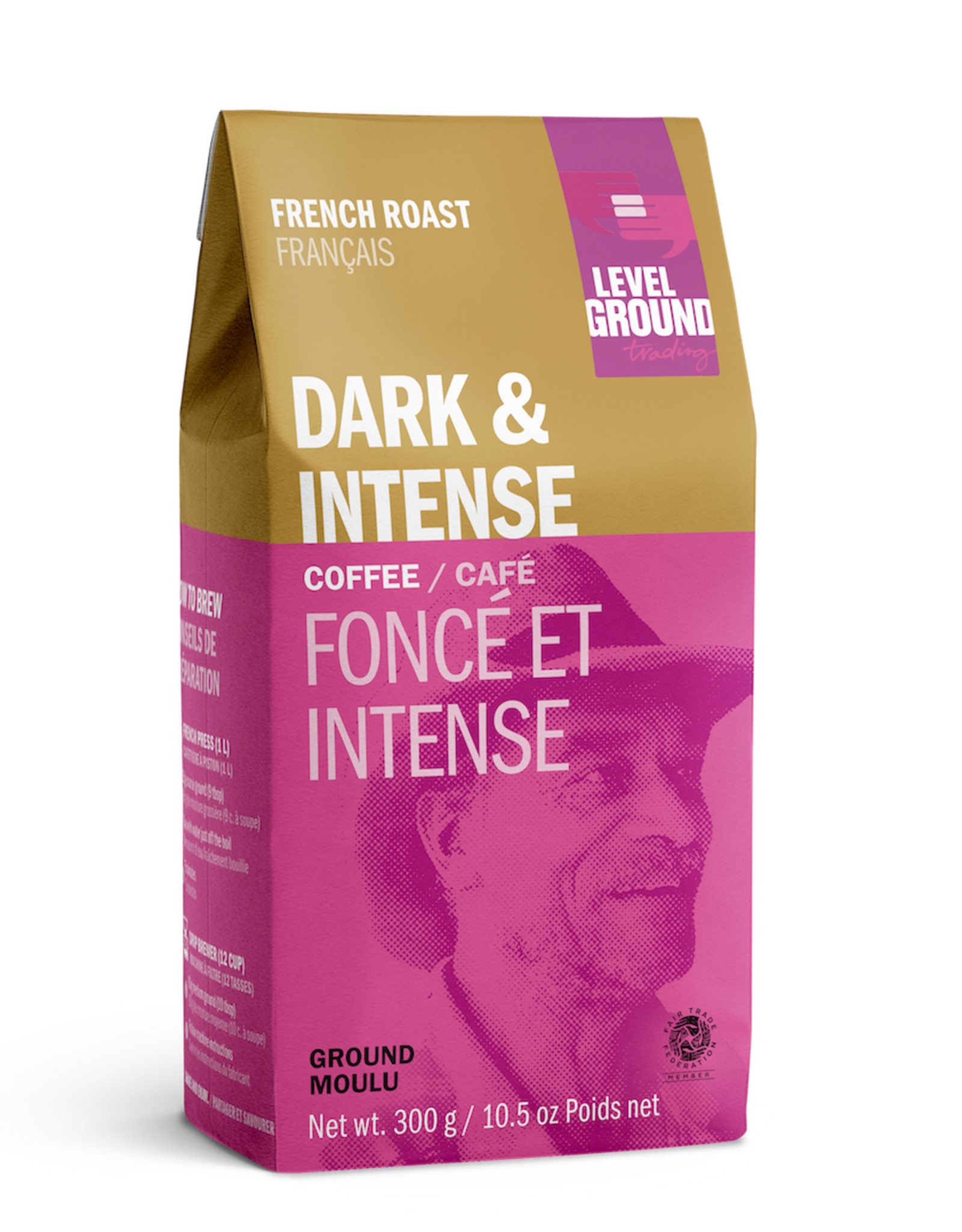 Level Ground Coffee, French Roast, Ground 300g