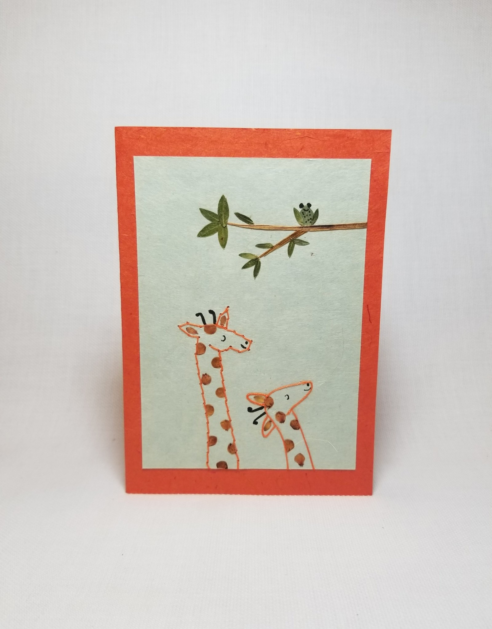 Mommy and Me Giraffe Greeting Card