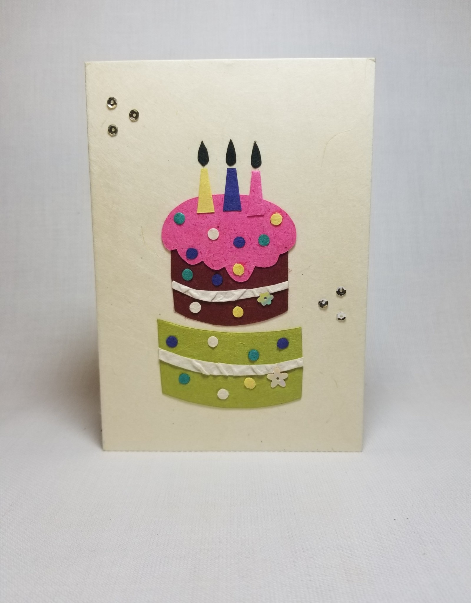 Pink Birthday Cake Card