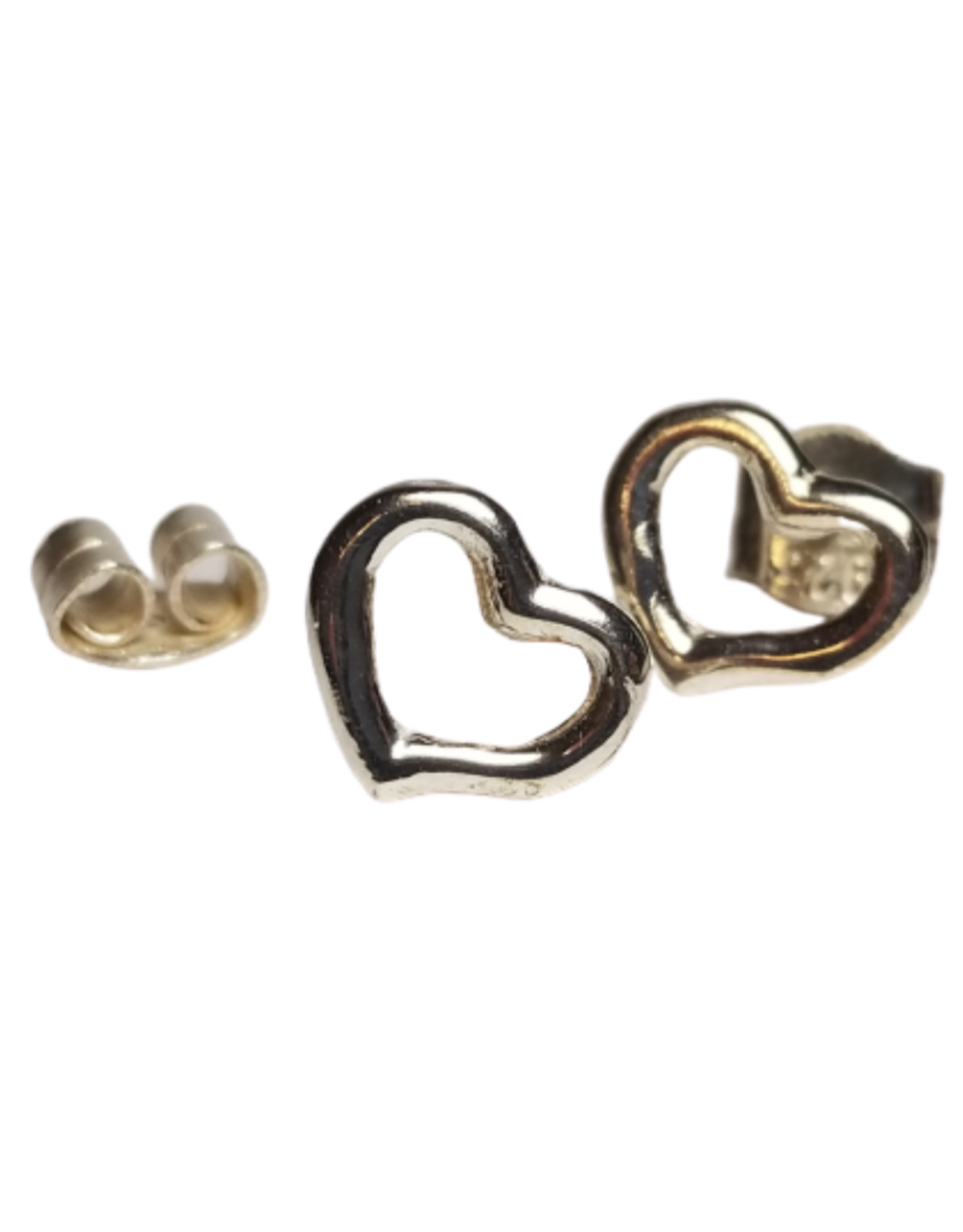 Outlined Hearts Sterling Silver Earrings
