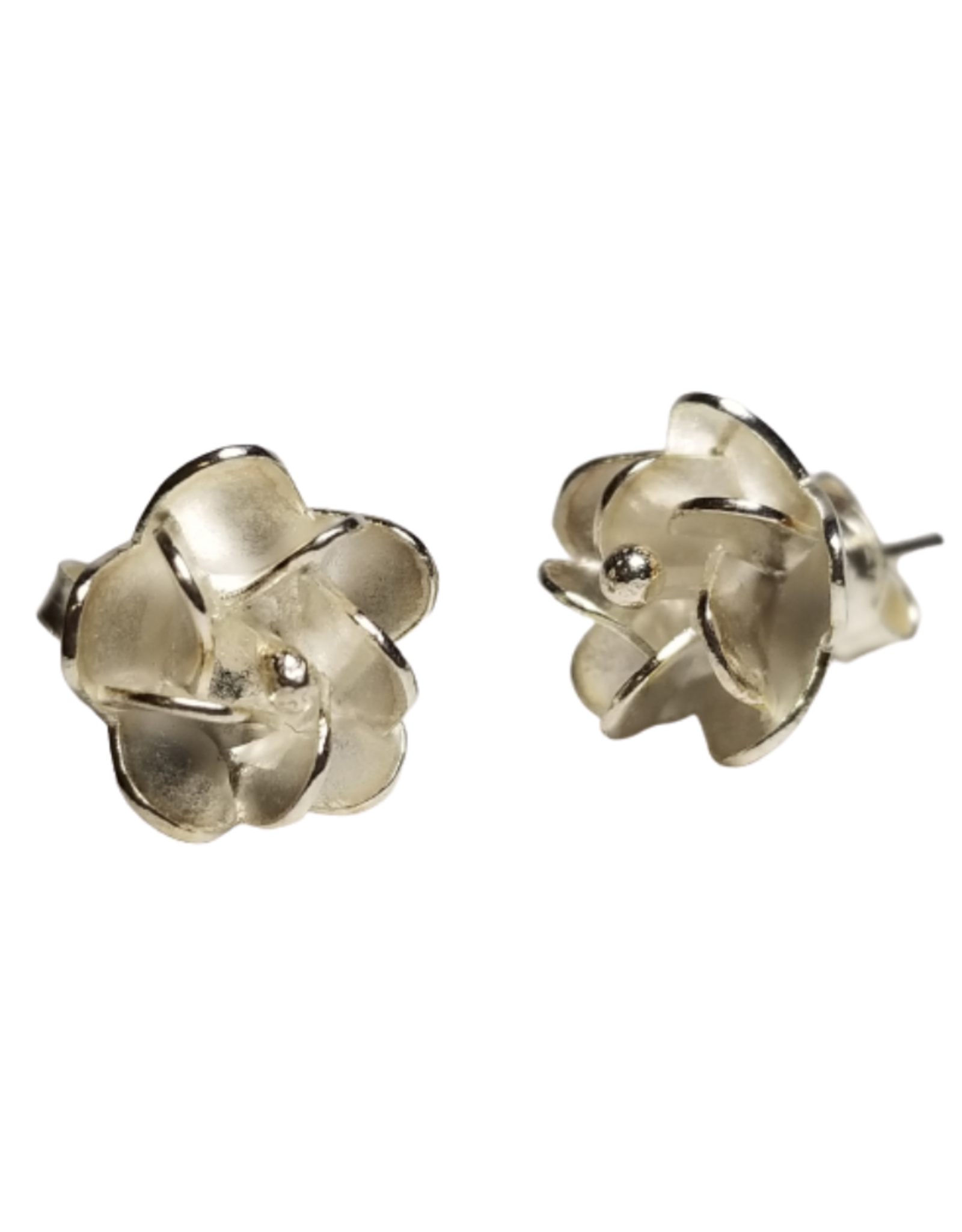 Single Rose Stud Earrings