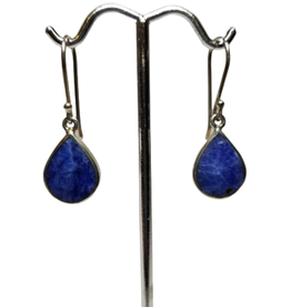 Sodalite And Silver Teardrop Earrings