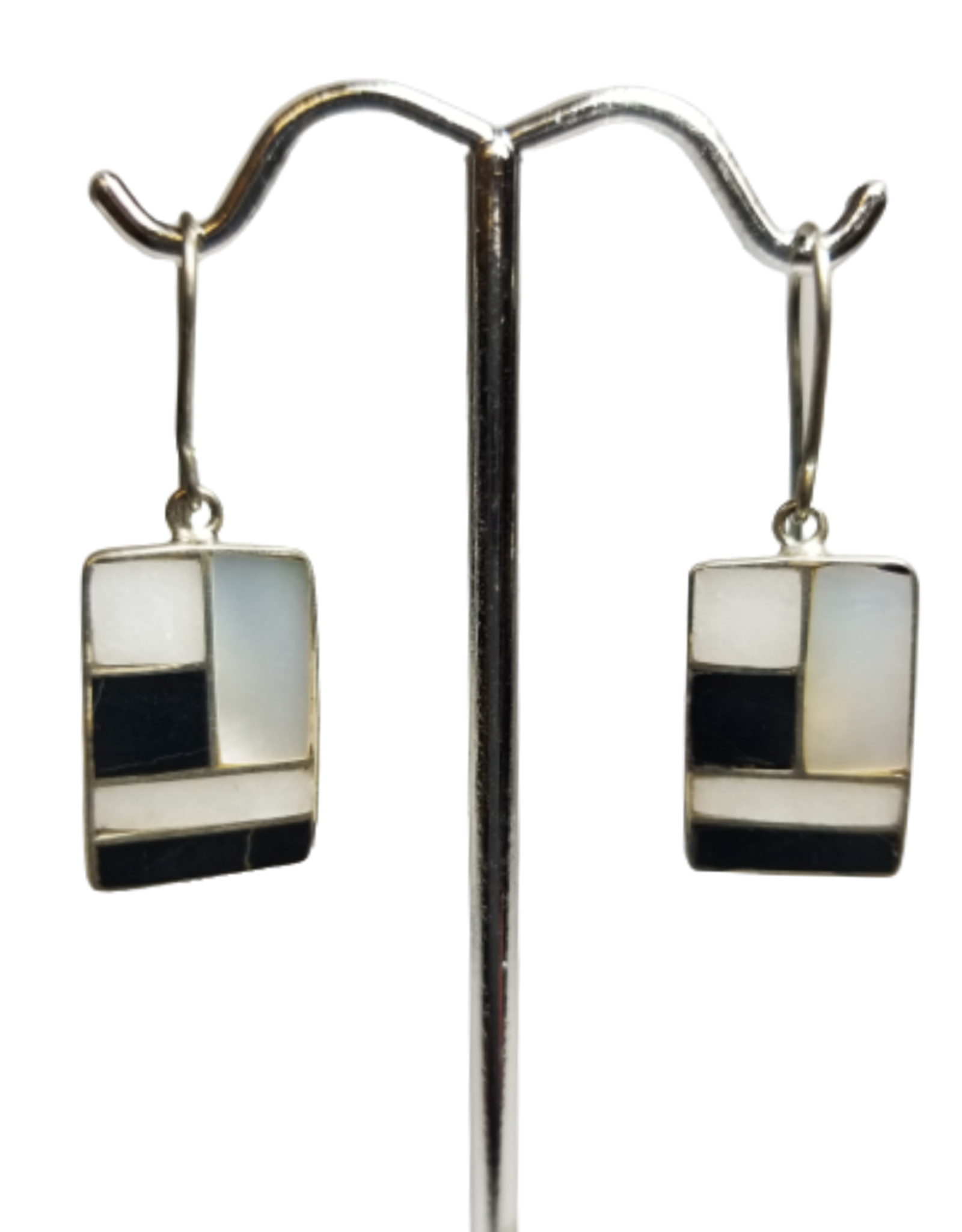 Geometry Class Silver Earrings